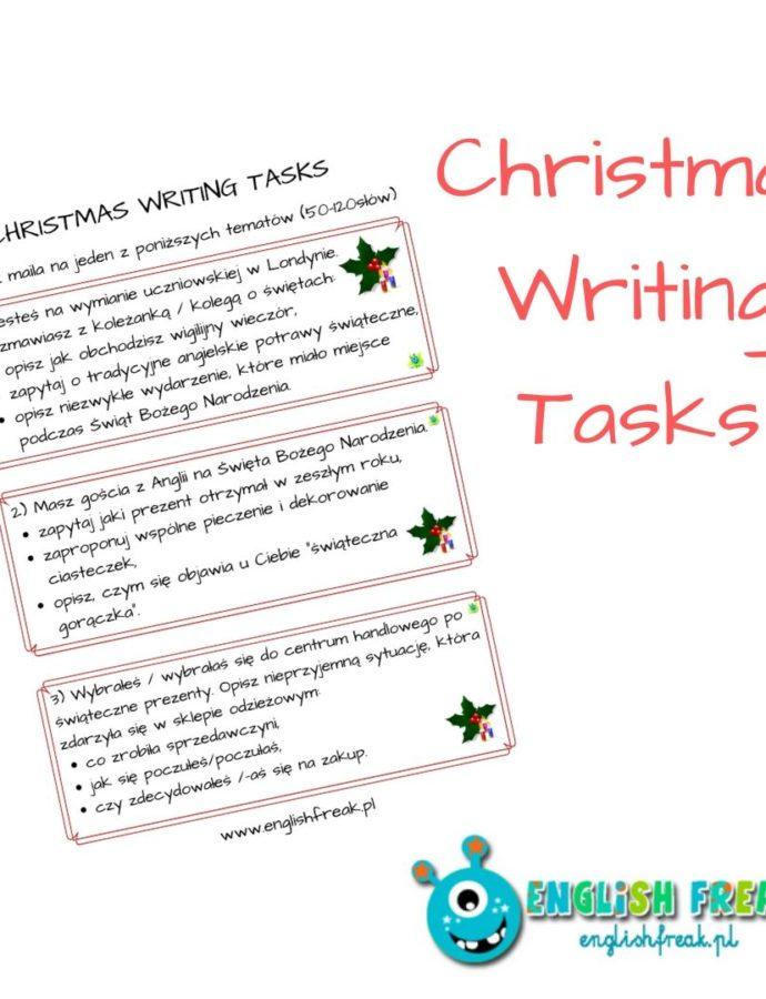 Christmas Writing Tasks – let's practise!