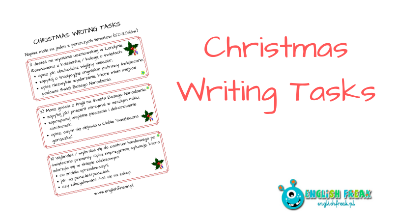 Christmas Writing Tasks