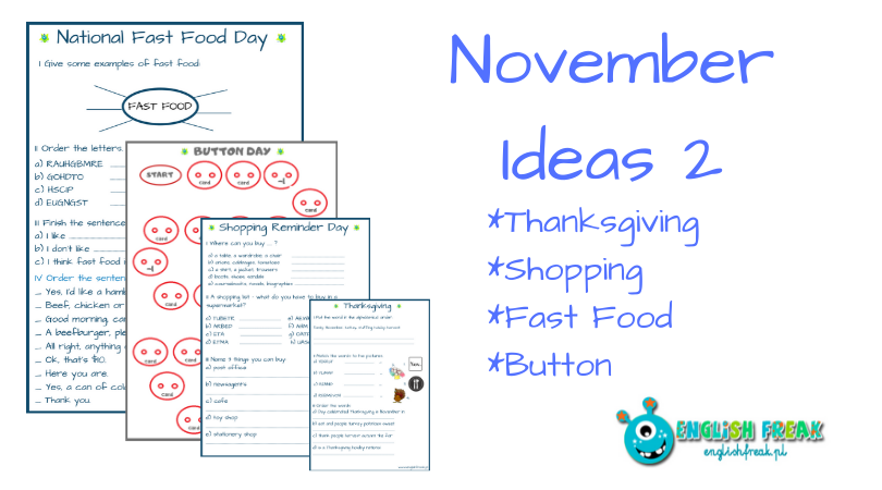 November Ideas Set