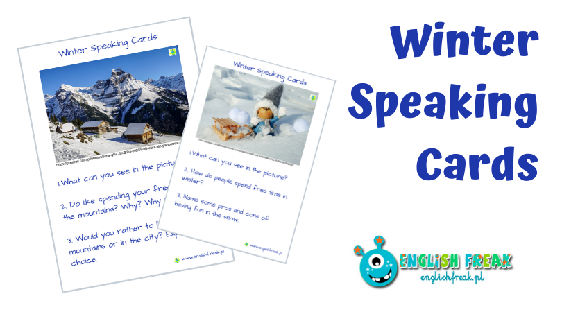 Winter Speaking Cards