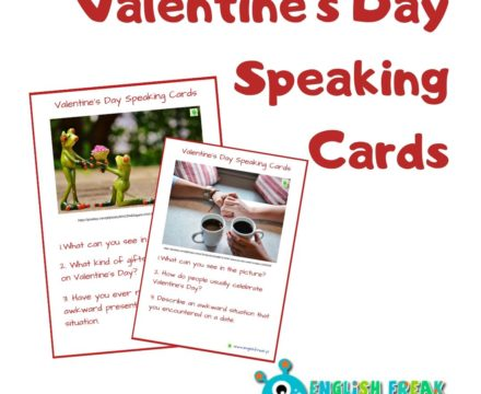 Valentine's Day Speaking Cards – let's talk!