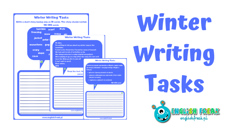 winter writing tasks