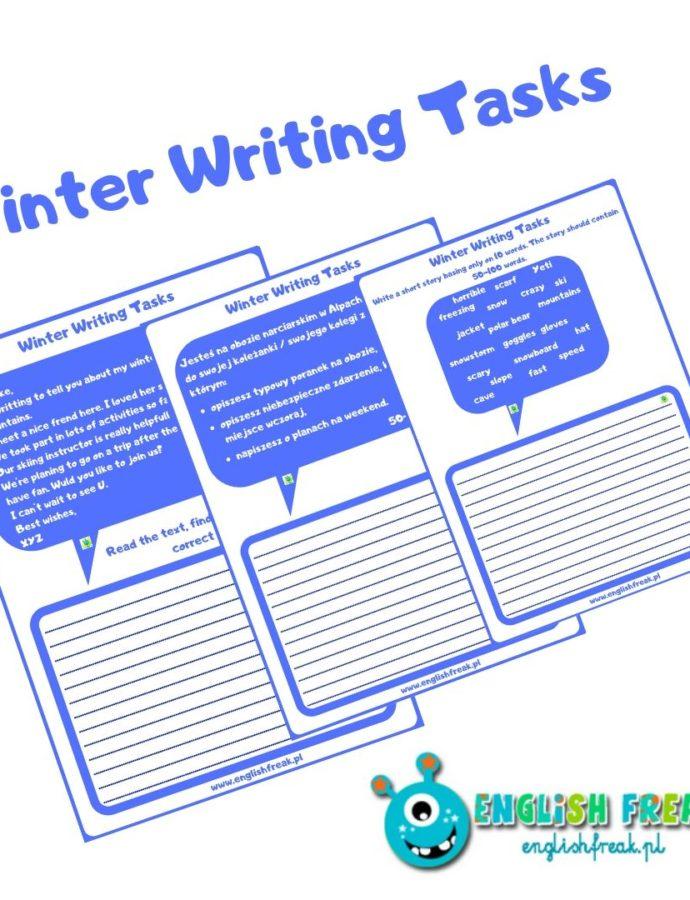 Winter Writing Tasks – 3 worksheets