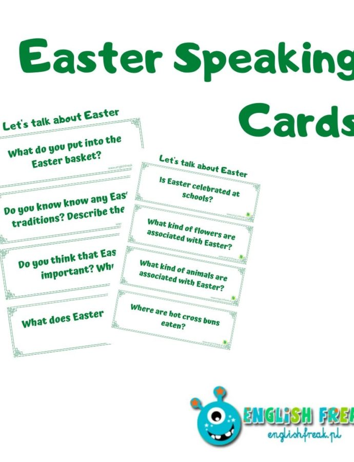 Easter Speaking Cards – karty konwersacyjne
