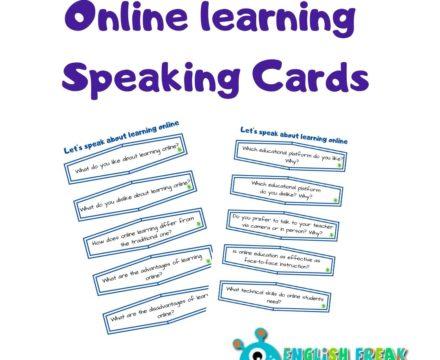 Online learning – speaking cards set