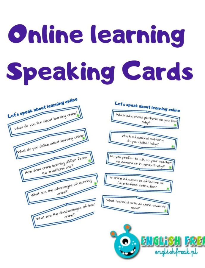 Online learning – speaking cards set