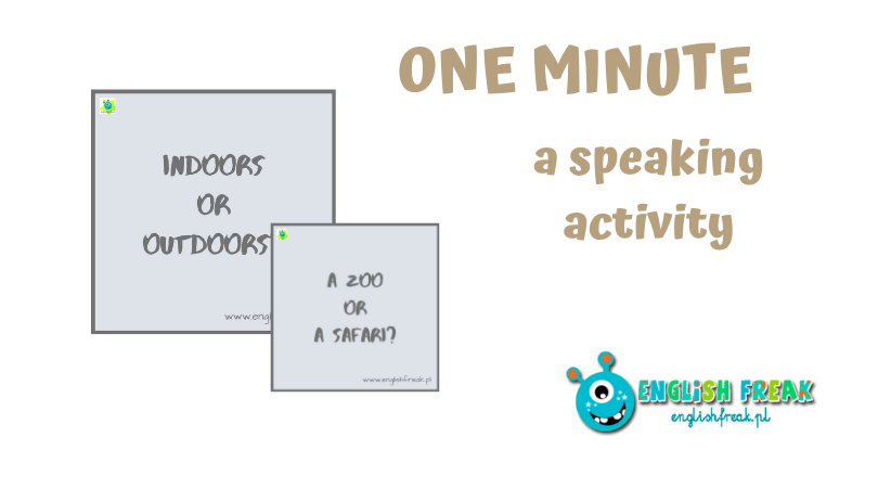 One minute - a speaking activity