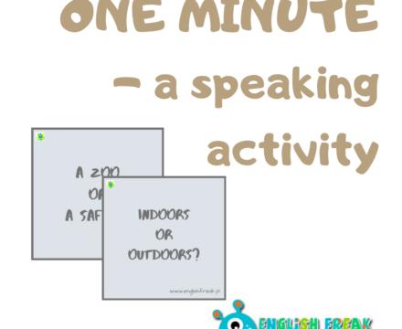 One minute – a speaking activity