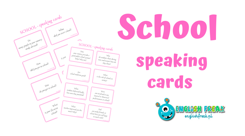 School Speaking Cards