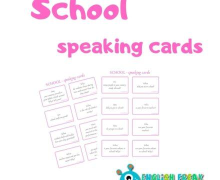 School Speaking Cards – karty konwersacyjne