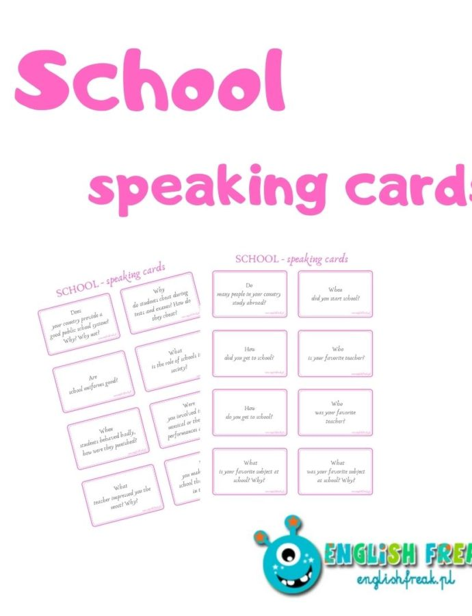 School Speaking Cards – karty konwersacyjne