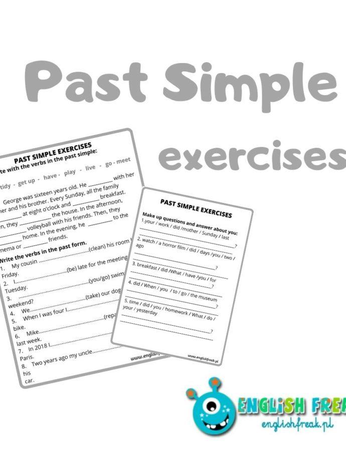 Past Simple Exercises – propozycje ćwiczeń