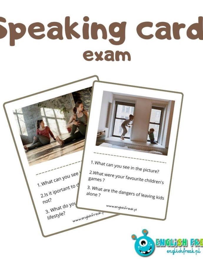 Speaking cards – speaking exams