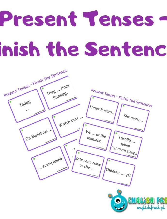 Present Tenses – Finish the Sentences
